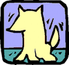 happy dog icon clip art