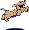 happy leaping dog clip art