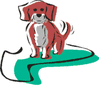 happy little dog clip art