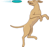 jumping for frisbee clip art