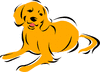 lab golden clip art
