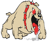 mean fighting dog clip art