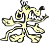 nasty mutant dog 2 clip art
