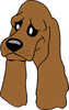 sad dog clip art