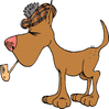 scottish dog smoking pipe clip art