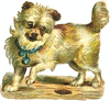 small dog play clip art
