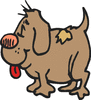 stubby happy dog clip art