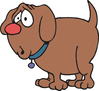 stubby worried dog clip art