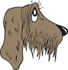 wistful eyes dog clip art