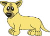 yellow dog clip art