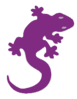 lizard icon purple clip art