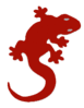 lizard icon red clip art