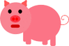 pig pink pig icon clip art