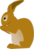 rabbit little brown clip art
