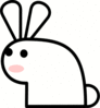 rabbit sock puppet clip art