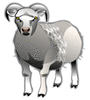 sheep chrome clip art