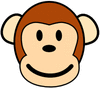 monkey happy clip art