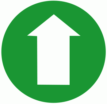arrow circle green up