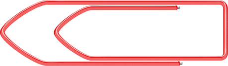 paper clip red horizontal