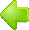 arrow 3D green left clip art