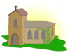 country church clip art