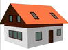 orange roof house clip art