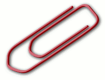 Office Supplies paper clip red