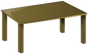 Office Supplies wooden table