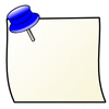note posted blue pin clip art