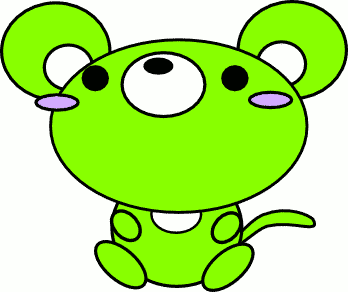 mouse toon green