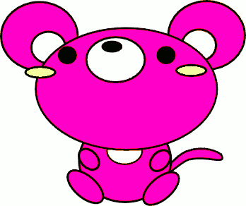 mouse toon pink