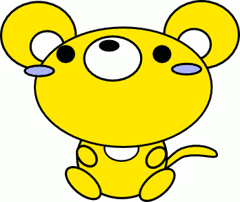 mouse toon yellow