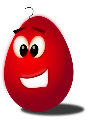 comic egg red