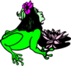 Alien Frog Woman clip art