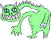 Alien Mutant Creature 092 clip art