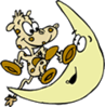 Cow Jumping over Moon clip art