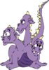 Dragon Three Headed 2 clip art