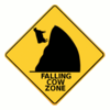 falling cow zone clip art
