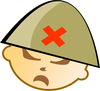angry soldier boy clip art