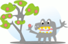 apple tree monster clip art
