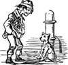 beggar and dog clip art