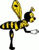 bending bee from side clip art