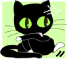 cat licking its wounds clip art