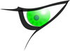 evil eye green clip art
