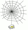 goofy spider with web clip art