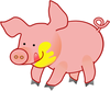 happy pig clip art