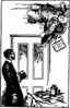 man on the ceiling clip art