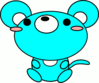 mouse toon cyan clip art
