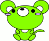 mouse toon green clip art