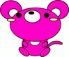 mouse toon pink clip art